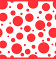 red circles on white background seamless pattern vector image