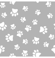 a seamless pattern of white vector image