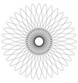 abstract spiral guilloche-like circular pattern vector image vector image