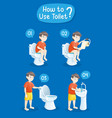 baboy using toilet vector image
