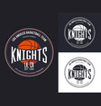 basketball logo for t-shirt design vector image vector image