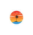 beach sunset logo design icon element sunset logo vector image vector image