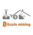 bitcoin mining vector image vector image
