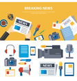 breaking news and media banner elements concept vector image
