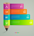 Business infographic template pencil concept vector image vector image