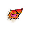 cartoon comic book sound wow bubble blast vector image vector image