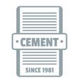 cement logo gray monochrome style vector image vector image