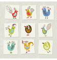 character birds vector image vector image