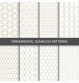collection seamless ornamental patterns vector image vector image