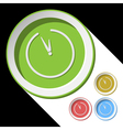color icons with clock vector image vector image