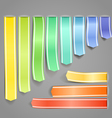 Color ribbons vector image vector image