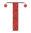 Decorative letter shape Font type T vector image