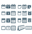 Different styles of calendar web icons collection vector image