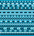ethnic motifs on blue background vector image