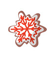 flat icon of delicious gingerbread in shape vector image