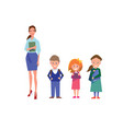 flat style education with teacher and pupils vector image vector image