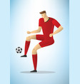 football player 05 vector image vector image