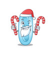 friendly klebsiella pneumoniae dressed in santa vector image vector image