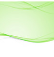 green bright abstract modern swoosh wave border vector image vector image