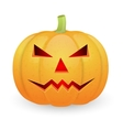 Halloween pumpkin isolated on white background vector image vector image
