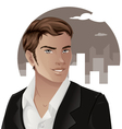 Handsome Man Wearing a Suit vector image vector image