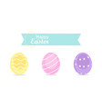 happy easter colorful eggs vector image