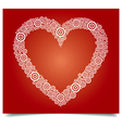 heart white circle vector image