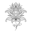 Intricate dainty floral motif design element vector image vector image