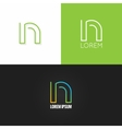 letter N logo alphabet design icon set background vector image vector image