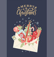 letter to santa claus christmas card with open vector image vector image