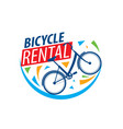 Logo for bicycle rental on