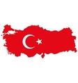 Map of Turkey Turkish flag vector image vector image