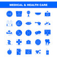 medical and health care solid glyph icon for web vector image vector image