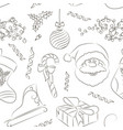 merry christmas set pattern vector image