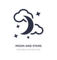 moon and stars icon on white background simple vector image vector image