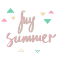My summer Your summer Modern calligraphy vector image vector image