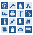 One tone Tourism and Holiday icons vector image