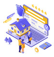 online sale rent mortgage house isometric vector image vector image