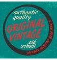 Original vintage print vector image vector image