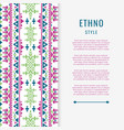 peruvian aztec or boho style mexican texure banner vector image vector image