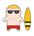 profession character surfer vector image vector image