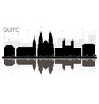 quito ecuador city skyline black and white vector image vector image
