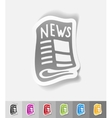 realistic design element newspaper vector image