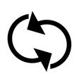 refresh circular arrows icon vector image vector image