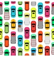 Seamless Pattern Cars on Parking Endless Texture vector image vector image