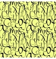 Seamless pattern with decorative letters vector image