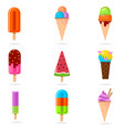set colorful and tasty icecream from different vector image vector image