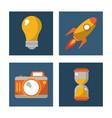 set digital marketing network media communication vector image vector image