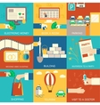 set of flat communication concepts backgro vector image vector image