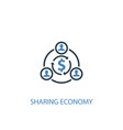 sharing economy concept 2 colored icon simple vector image vector image